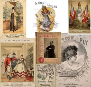 Victorian sheet music covers: an anachromism